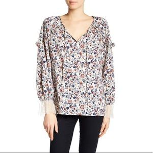 NWT Pleione {Nordstrom} Floral Boho Blouse